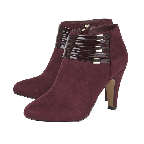 Lotus Nell Closed Toe Shoe Boot (Size 3) - Burgundy
