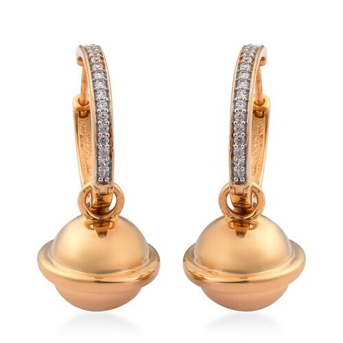 Sundays Child - Natural Cambodian Zircon Earrings in 14K Gold Overlay Sterling Silver, Silver wt. 12
