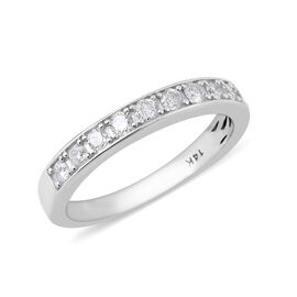 New York Close Out Deal 0.25 Ct Diamond Band Ring in 14K White Gold I1 I2 GH