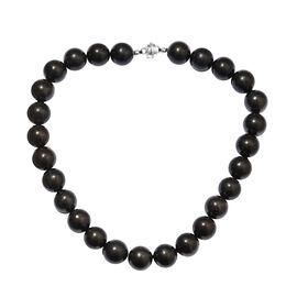 TJC Largest Ever Size -Shungite (Rnd 16mm) Necklace (Size 18) with Magnetic Lock in Sterling Silver