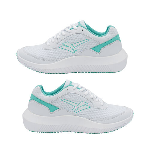 Gola Wexford Lace Up Ladies Trainer (Size 3) -  White and Sea Mist