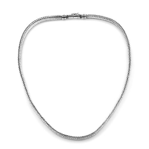 Royal Bali Collection Sterling Silver Tulang Naga Necklace (Size 20), Silver wt 74.60 Gms.