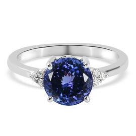 RHAPSODY 950 Platinum AAAA Tanzanite and Diamond (VS/E-F) Ring 2.66 Ct.