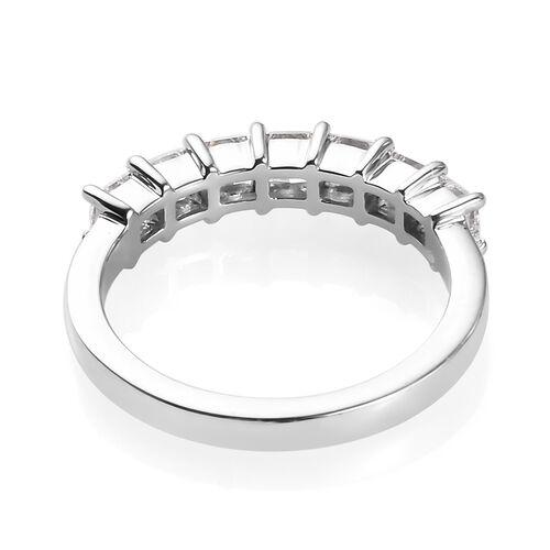 RHAPSODY 950 Platinum IGI Certified Diamond (Sqr) (VS/E-F) Seven Stone Ring 1.00 Ct.