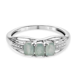 Grandidierite Ring in Platinum Overlay Sterling Silver 0.75 Ct.