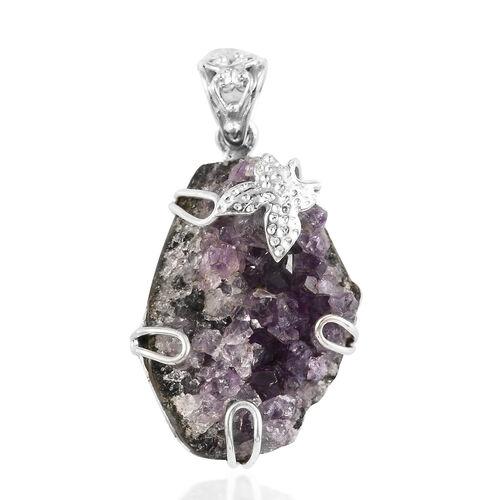 Amethyst Geode Pendant in Sterling Silver 50.00 Ct.