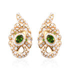 AA Russian Diopside Enamelled Earrings (with Push Back) in 14K Gold Overlay Sterling Silver 1.00 Ct,