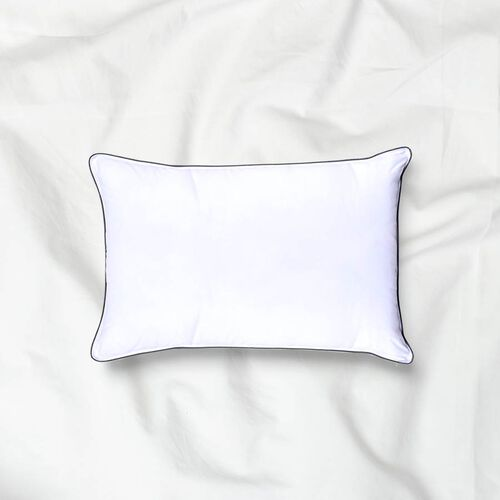 Lavender Infused Memory Foam Pillow with Down Alternative Cover (55x35x12cm) - White and Grey