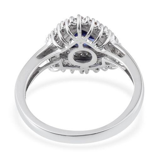 ILIANA 18K W Gold AAA Tanzanite (Trl 0.75 Ct), Diamond Ring 1.150 Ct.
