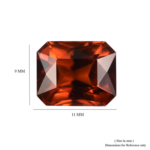 AAA Hessonite Garnet Octagon 11x9 Faceted 5.55 Cts