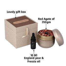 The 5th Season - England Pear & Freesia - Scented Red Agate Gems in Gift Box with Essential Oil