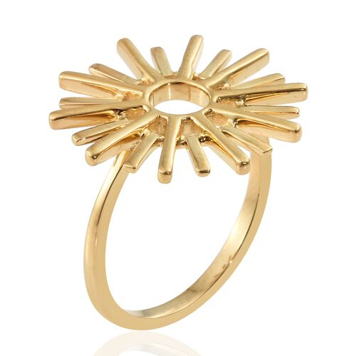 Cocktail Ring in Yellow Gold Vermeil Sterling Silver