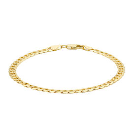 Hatton Garden Close Out Curb Bracelet in 9K Gold 9 Inch