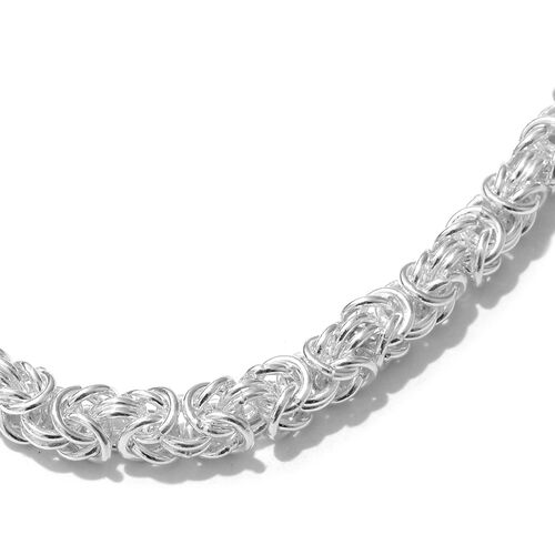 Close Out Deal- Sterling Silver Byzantine Necklace (Size 20 and 2 inch Extender), Silver wt 62.08 Gms.