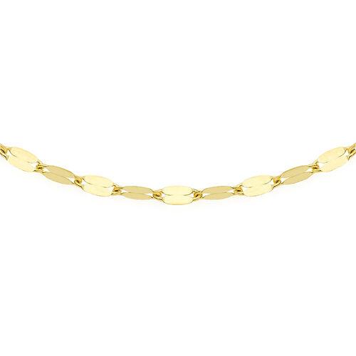 Italian Made 18 Inch Forzantina Necklace in 9K Gold