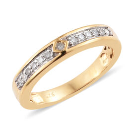 Diamond (Rnd) Band Ring in 14K Gold Overlay Sterling Silver 0.150 Ct.