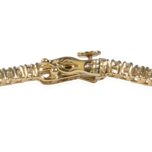14K Yellow Gold EGL Certified Diamond (Rnd) (I1-I2/G-H) Tennis Bracelet (Size 7.25) 2.07 Ct, Gold wt 6.80 Gms