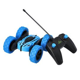 360 Rotating Stunt Toy Car with Controller - Blue