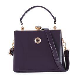 Boutique Collection Purple Colour Bag with Removable Shoulder Strap (Size 22x18x14 Cm)