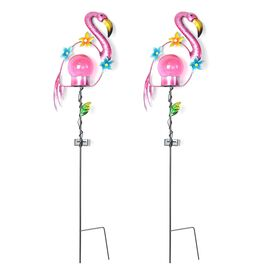 OTO - Set of 2  - Solar Powered Stake Light - Flamingo