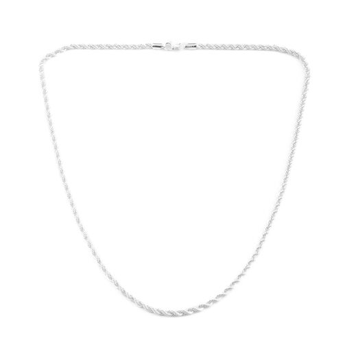 JCK Vegas Collection Sterling Silver Rope Chain (Size 20), Silver wt 8.30 Gms.