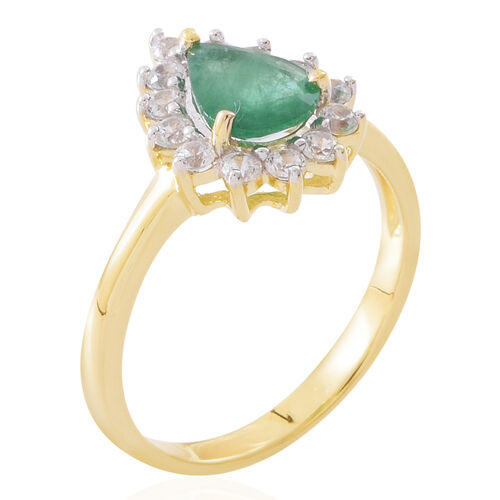 1 75 Ct Aaa Kagem Zambian Emerald And White Cambodian