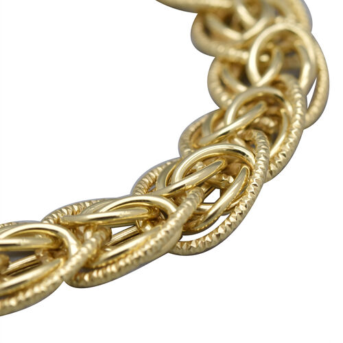 Italian Made 9K Yellow Gold Fancy Curb Bracelet (Size 7+1 inch), Gold Wt. 8.49 Gms
