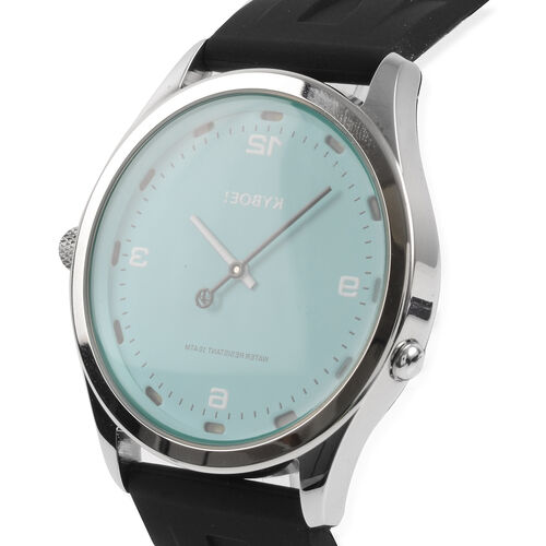 KYBOE Evolve Japanese Movement 100M Water Resistant Deep Splash  LED Watch in Stainless Steel and Black Strap