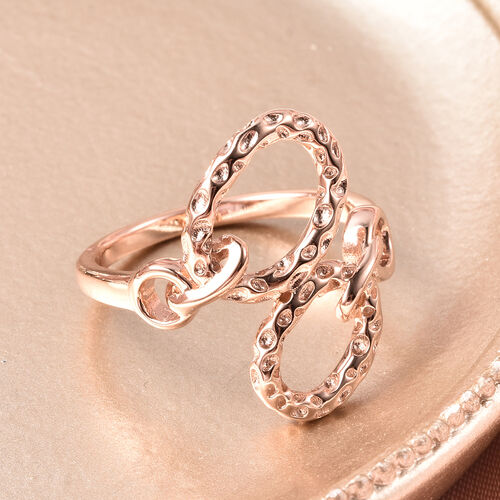 RACHEL GALLEY - Rose Gold Overlay Sterling Silver Allegro Link Bypass Ring