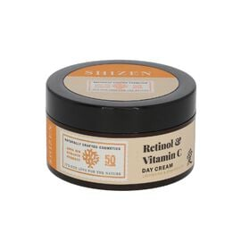 SHIZEN Retinol & Vitamin C Day Cream -Brightening Face Cream/ No Parabens 100% Organic, 50 Gms.