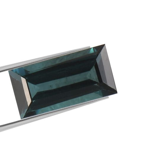AA Indicolite Baguette 8.11x4.09x2.59 Faceted 0.73 Cts