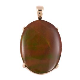 9K Yellow Gold AA Canadian Ammolite (Ovl 20x15 mm) Pendant
