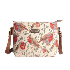 SIGNARE - Tapestry Collection - Robin Cross Body Bag ( 28 x 18 x 8 Cms)