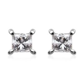 RHAPSODY 950 Platinum SGL Certified Diamond (VS/E-F) Stud Earrings (with Screw Back) 0.24 Ct.