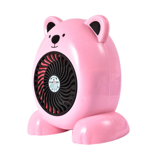 Cute Portable Pink Bear Heater Fan - 360W - 19cm High