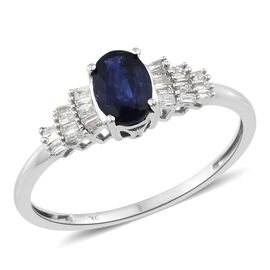Super Auction - 9K White Gold AAA Masoala Sapphire (Ovl 1.15 Ct), Diamond Ring 1.300 Ct.