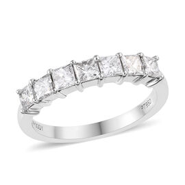 RHAPSODY 950 Platinum IGI Certified Diamond (Sqr) (VS / E-F) Ring 1.00 Ct.