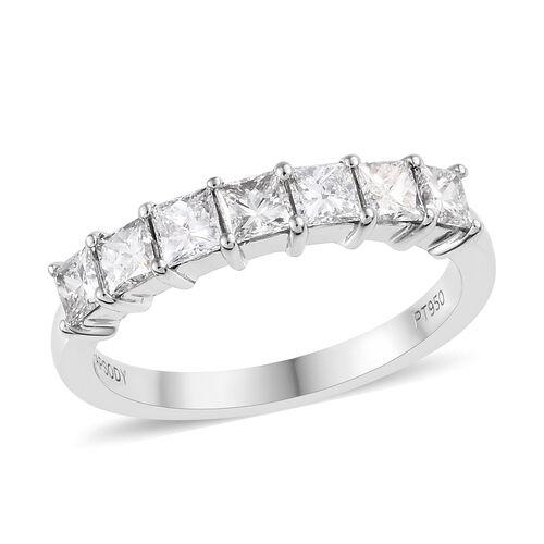 RHAPSODY 950 Platinum IGI Certified Diamond (Sqr) (VS / E-F) Ring 1.00 Ct.