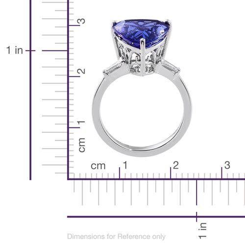 Signature Collectin - RHAPSODY 950 Platinum AAAA Tanzanite (Trl 6.35 Ct), Diamond (VS/E-F) Ring 6.600 Ct.