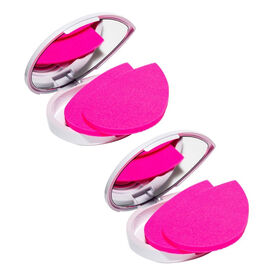 One Time Mega Deal-4 Beauty Blending Sponges with 2 Compact Mirrors.