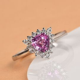 RHAPSODY 950 Platinum AAAA Madagascar Pink Sapphire and Diamond (VS/E-F) Ring 1.10 Ct, Platinum wt.
