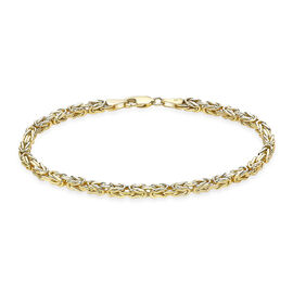 Close Out Deal-9K Yellow Gold Byzantine Bracelet (Size 7.5), Gold wt 5.50 Gms
