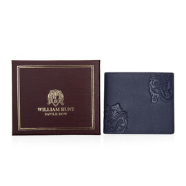 William Hunt - Saville Row 100% Genuine Leather Wallet - Blue