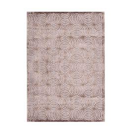 Vivaz Collection - Abstract Circular Geometric Pattern Jacquard Carpet (Size 140x200 Cm) - Grey
