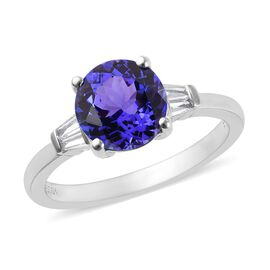 RHAPSODY 950 Platinum AAAA Tanzanite (Rnd), Diamond (VS/E-F) Ring 2.35 Ct.