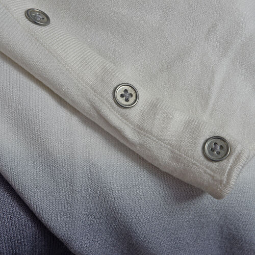 Close Out Deal Off White and Grey Colour Apparel- S