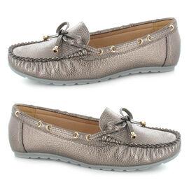 Ella Sadie Knot Detailing Loafers - Pewter