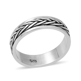 MP Sterling Silver Braided Spinner Ring