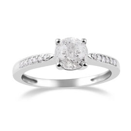 9K White Gold SGL Certified Diamond (Rnd) (I3/G-H) Ring 1.00 Ct.