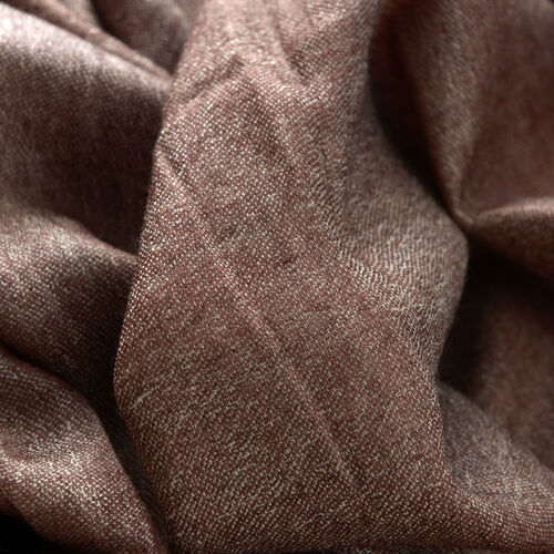 88% Merino Wool and 12% Silk Chocolate Colour Scarf (Size 200x70 Cm)